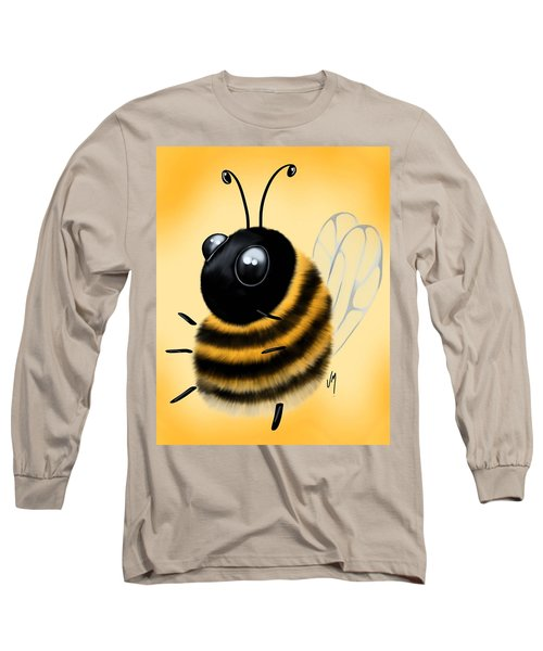 Long Sleeve T-Shirt featuring the painting Funny Bee by Veronica Minozzi