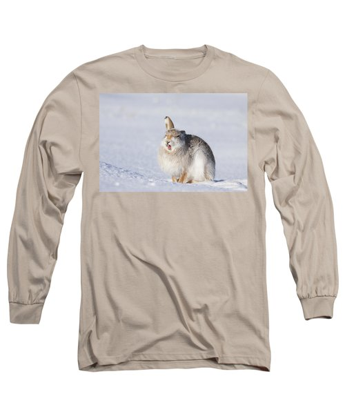 Funny Face - Mountain Hare - Scottish Highlands  #13 Long Sleeve T-Shirt