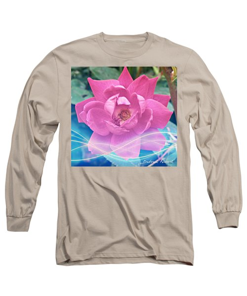 Fuschia Flower Energy Long Sleeve T-Shirt