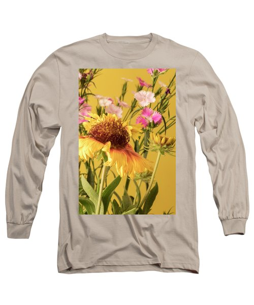 Long Sleeve T-Shirt featuring the photograph Gaillardia And Dianthus by Richard Rizzo