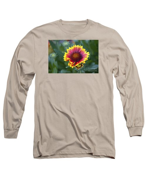 Long Sleeve T-Shirt featuring the photograph Gallardia 20120615_183b by Tina Hopkins