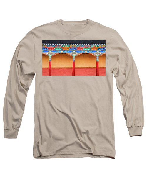 Long Sleeve T-Shirt featuring the photograph Gallery In A Buddhist Monastery by Alexey Stiop