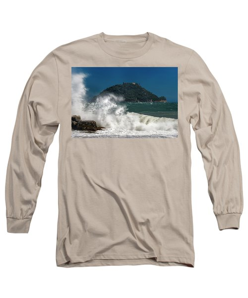 Gallinara Island Seastorm - Mareggiata All'isola Gallinara Long Sleeve T-Shirt