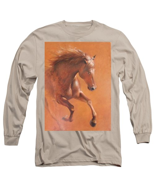 Gallop In The Desert Long Sleeve T-Shirt by Vali Irina Ciobanu