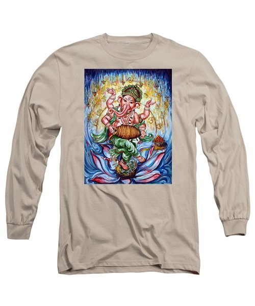 Ganesha Dancing And Playing Mridang Long Sleeve T-Shirt