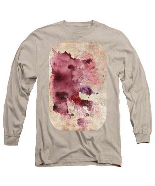 Garnet Color Splash Long Sleeve T-Shirt