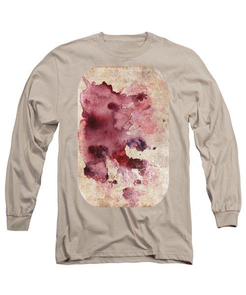 Garnet Color Splash Long Sleeve T-Shirt