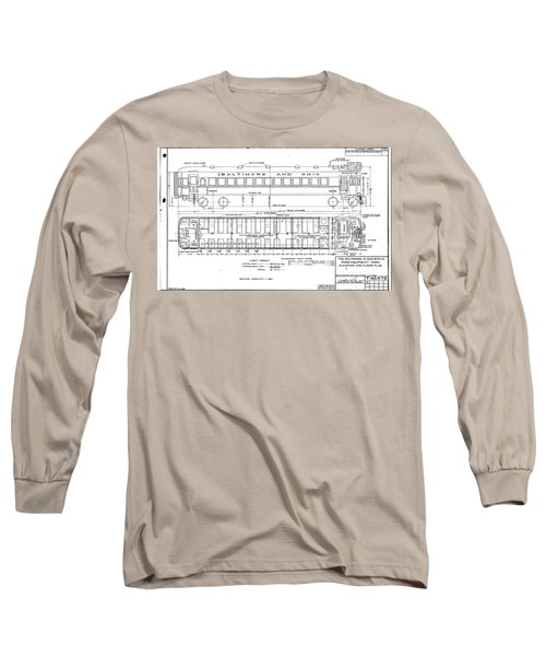 Gas Electric Car Diagram Long Sleeve T-Shirt