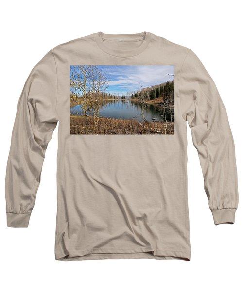 Gates Lake Long Sleeve T-Shirt by Cindy Murphy - NightVisions