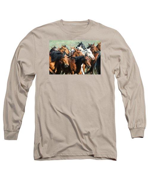 Gathering The Herd Long Sleeve T-Shirt