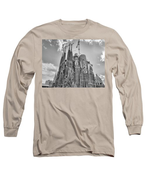 Gaudi La Sagrada Blk Wht Long Sleeve T-Shirt