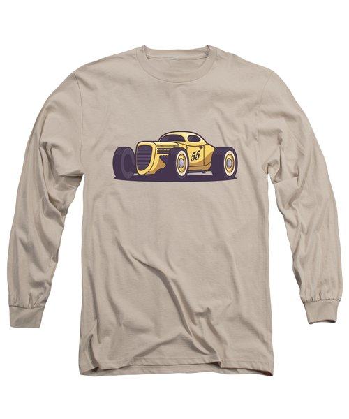 Gaz Gl1 Custom Vintage Hot Rod Classic Street Racer Car - Yellow Long Sleeve T-Shirt