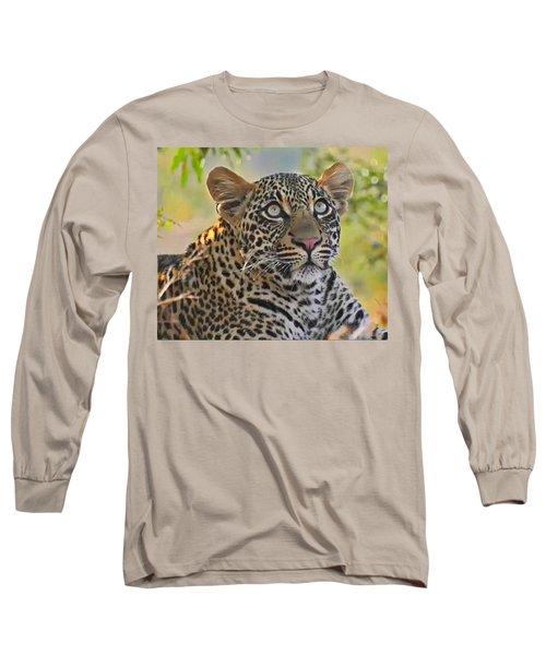 Gazing Leopard Long Sleeve T-Shirt