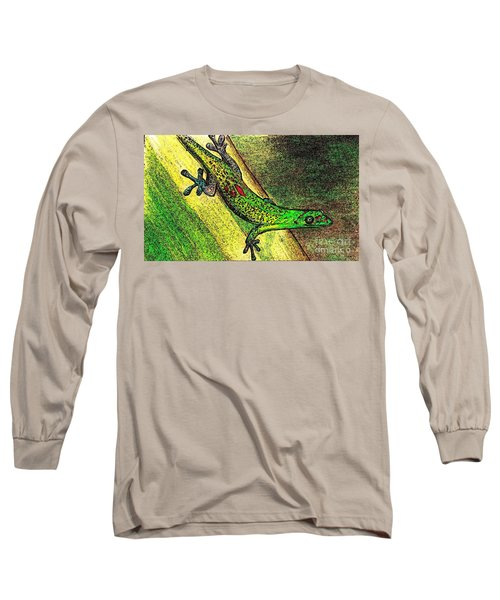 Gecko On The Green Long Sleeve T-Shirt