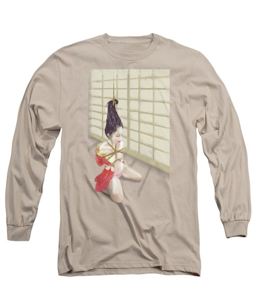 Long Sleeve T-Shirt featuring the mixed media Geisha by TortureLord Art