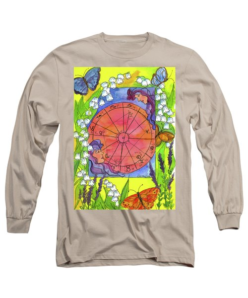 Long Sleeve T-Shirt featuring the painting Gemini by Cathie Richardson