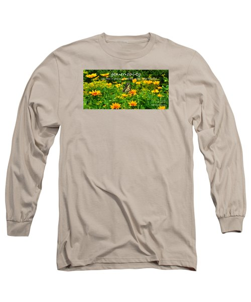 Long Sleeve T-Shirt featuring the photograph Gen Er Os I Ty  by Diane E Berry