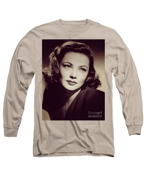 Gene Tierney, Vintage Movie Star Long Sleeve T-Shirt