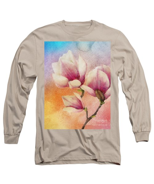 Long Sleeve T-Shirt featuring the digital art Gentleness by Klara Acel