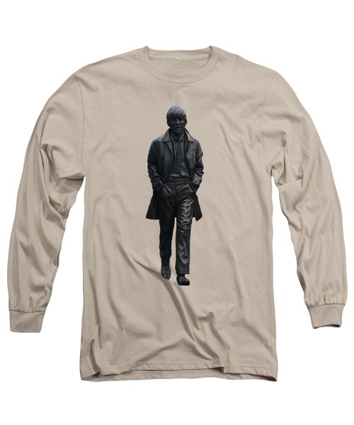 Long Sleeve T-Shirt featuring the mixed media George Harrison N F by Movie Poster Prints