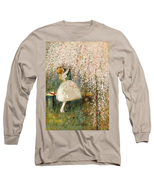 Georges Picard French 1857 1946 Romance Under The Blossom Tree Long Sleeve T-Shirt