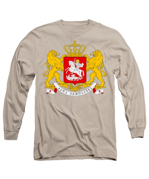 Long Sleeve T-Shirt featuring the drawing Georgia Coat Of Arms by Movie Poster Prints