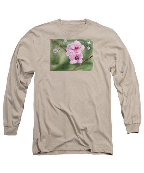 Georgia Peach Blossoms Long Sleeve T-Shirt