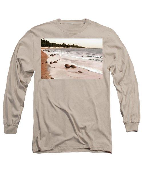 Georgian Bay Beach Long Sleeve T-Shirt by Kenneth M  Kirsch
