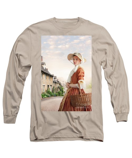 Georgian Period Woman Long Sleeve T-Shirt by Lee Avison