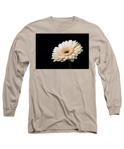 Long Sleeve T-Shirt featuring the photograph Gerbera Daisy On Black II by Clare Bambers
