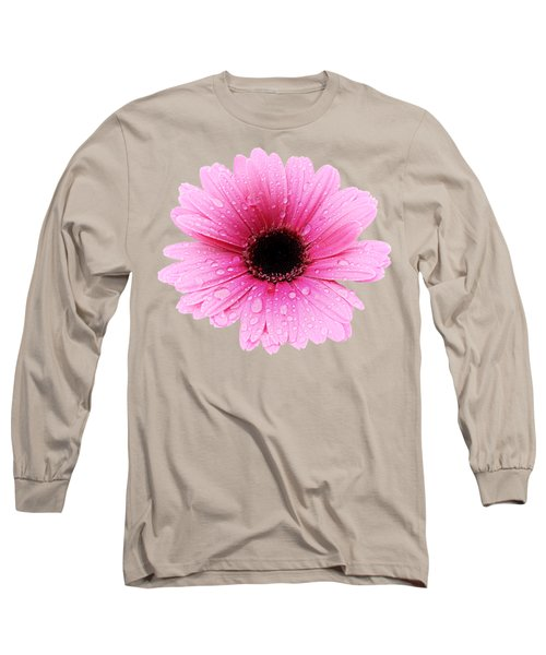 Gerbera Pink - Daisy Long Sleeve T-Shirt by MTBobbins Photography
