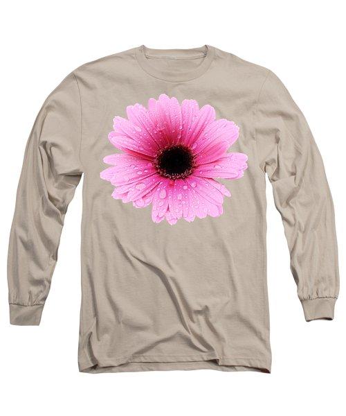 Gerbera Pink - Daisy - Up Close Long Sleeve T-Shirt by MTBobbins Photography