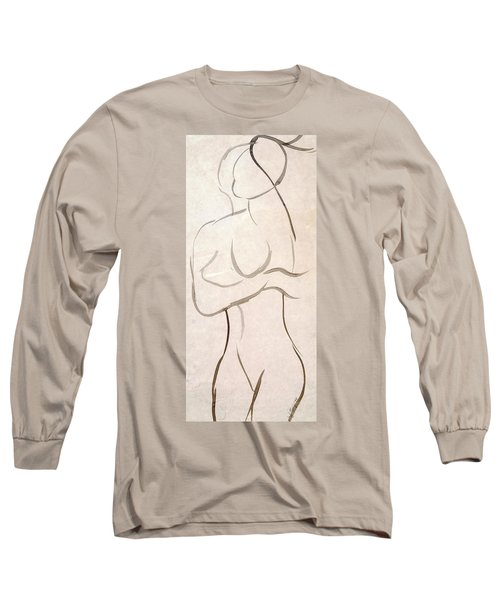 Gestural Nude Sketch Long Sleeve T-Shirt