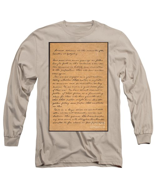 Gettysburg Address Long Sleeve T-Shirt