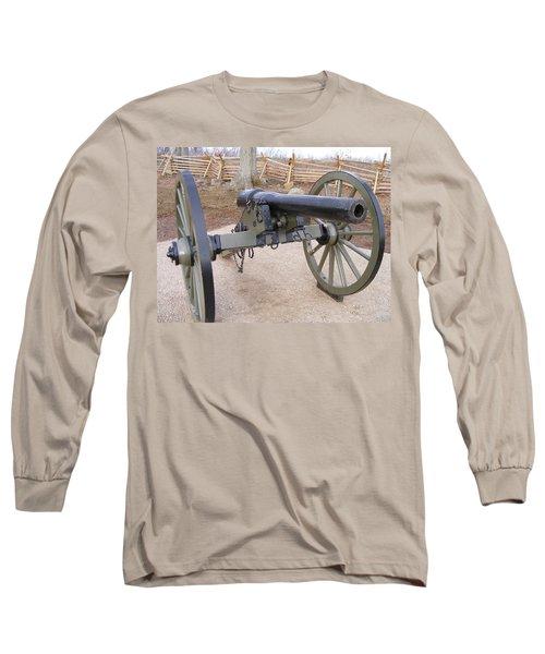 Gettysburg Cannon Long Sleeve T-Shirt by Adam Cornelison