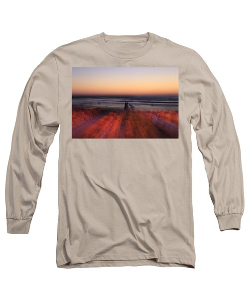 Ghost On A Beach. Long Sleeve T-Shirt