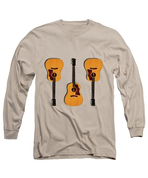 Gibson J-50 1967 Long Sleeve T-Shirt by Mark Rogan