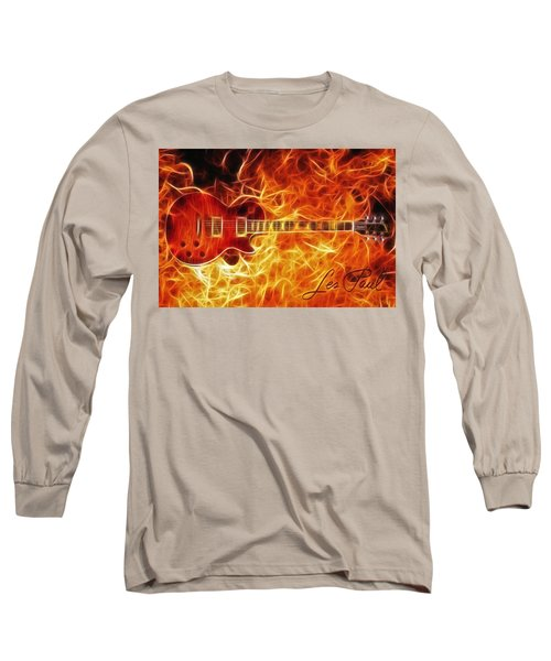 Gibson Les Paul Long Sleeve T-Shirt by Taylan Apukovska