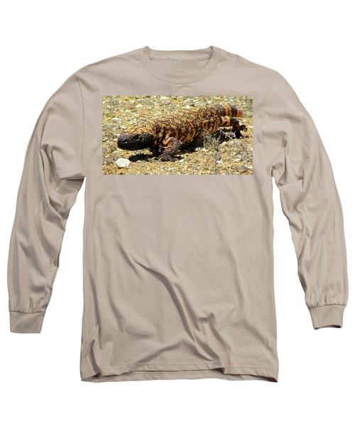 Gila Monster On The Prowl Long Sleeve T-Shirt by Brenda Pressnall