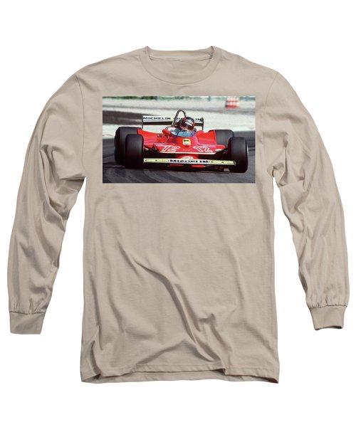 Gilles Villeneuve, Ferrari Legend - 01 Long Sleeve T-Shirt