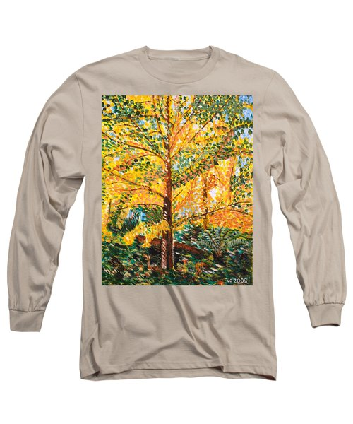 Gingko Tree Long Sleeve T-Shirt by Valerie Ornstein