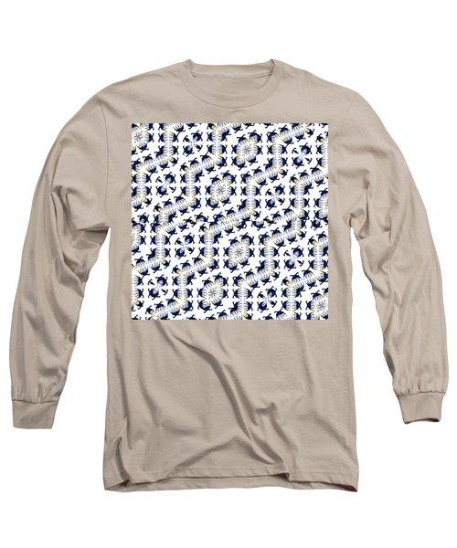 Giraffe Abstract 02 Long Sleeve T-Shirt by EricaMaxine  Price