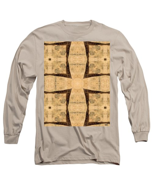 Giraffe Cross Long Sleeve T-Shirt by Maria Watt