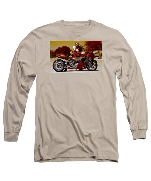Girl On Fire Long Sleeve T-Shirt by Lawrence Christopher