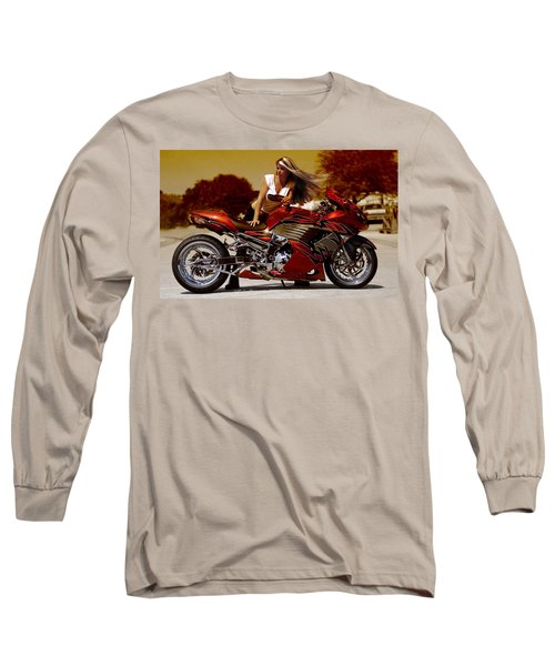 Girl On Fire Long Sleeve T-Shirt