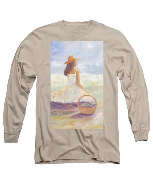 Girl With A Basket Long Sleeve T-Shirt