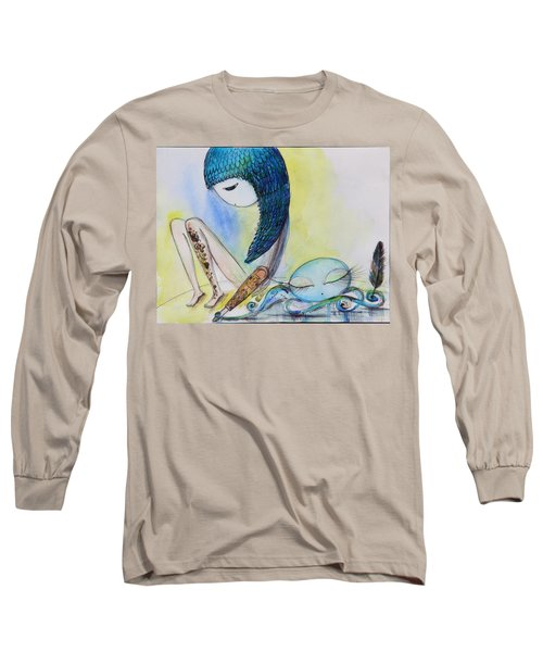 Girl With Octopus  Long Sleeve T-Shirt