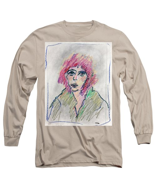 Girl With Pink Hair  Long Sleeve T-Shirt