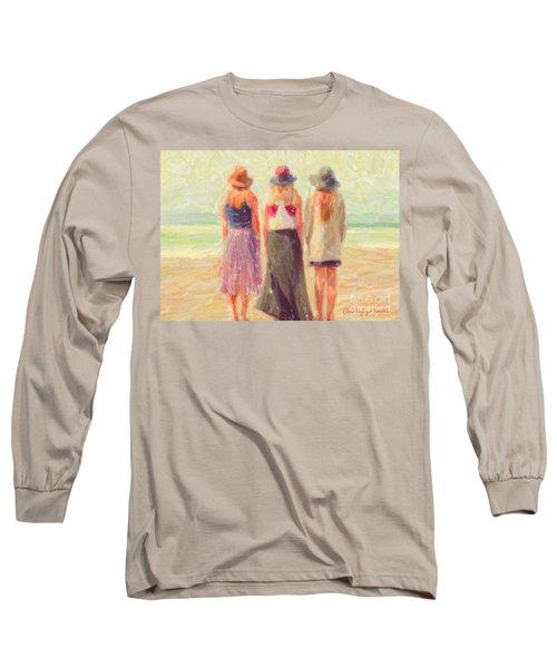 Girlfriends At The Beach Long Sleeve T-Shirt