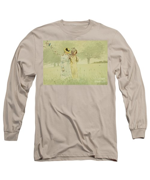 Girls Strolling In An Orchard Long Sleeve T-Shirt
